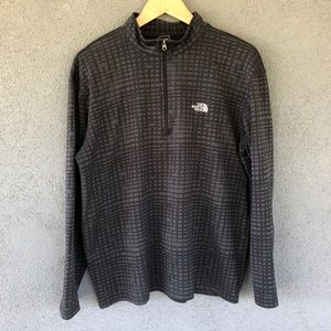 North Face Black Geometric Base Layer Pullover